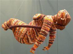 Artist of the day, March Yulia Ustinova, Russian crochet artist, sculptor Knit Art, Crochet Art, Crochet Woman, Crochet Dolls, Crochet Patterns, Textile Design, Textile Art, Russian Crochet, Textiles