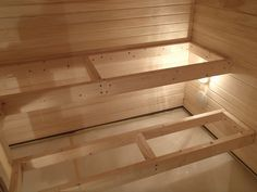 exacta sauna - Sök på Google Saunas, Walk Through Shower, Building A Sauna, Indoor Sauna, Sauna Heater, Relaxation Station, Japanese Bathroom, Sauna Design, Finnish Sauna