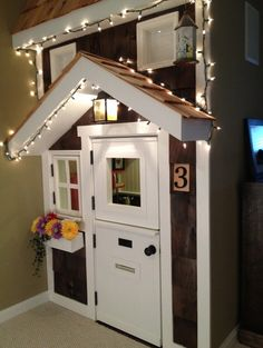 Kids Playhouse (under stairs) traditional kids - I want a playhouse in DD closet - so precious!