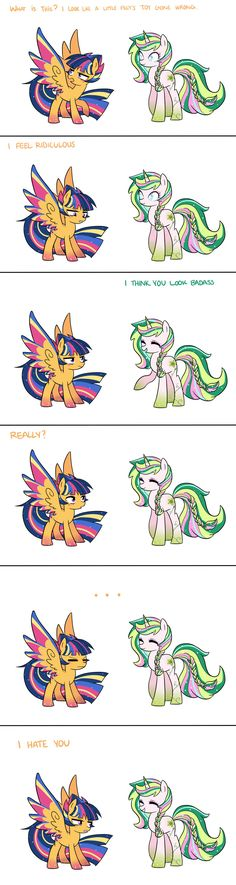 Incase you didn't now the pony on the right is blind