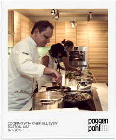 Cooking with Chef Bill at Poggenpohl Boston Studio