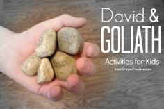 Crayon Freckles: David & Goliath Bible preschool activities