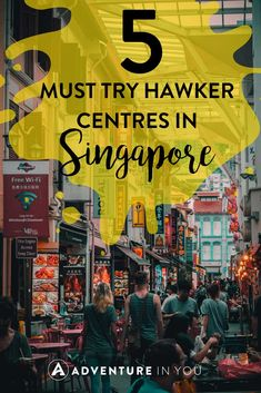 5 Must Try Hawker Centres in Singapore Where to Eat Singapore Singapore Guide, Singapore Travel Tips, Singapore Itinerary, Singapore City, Visit Singapore, Singapore Malaysia, Malaysia Travel, Asia Travel, Singapore Sling