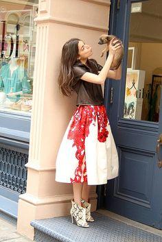 Full skirts on the blog: http://mulesandmanolos.com/post/54093654194/currently-crushing-on-full-skirts-its-no-secret