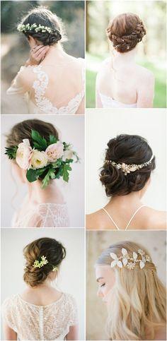 long wedding hairstyles & wedding hair accessories