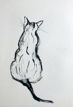 CAMERA EN KWAST: Tekenen van de kat  copyright Elidamarian