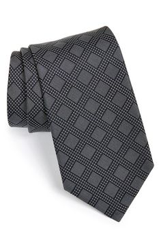 BOSS HUGO BOSS Medallion Navy Silk Tie available at #Nordstrom