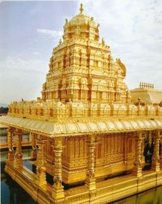 Sripuram Golden Temple, Vellore, Tamil Nadu, India , from Iryna Tourist Places, Places To Travel, Places To Visit, Tourist Spots, Temple India, Hindu Temple, Venkateswara Temple, Temple Thailand, Indian Temple Architecture