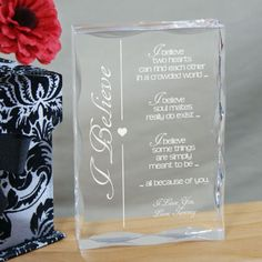 Personalized Engraved Valentine Keepsake