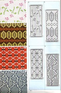 Pattern Library for Punch Card Knitters 1973 33 — Yandex. Knitting Machine Patterns, Knitting Charts, Knitting Stitches, Knitting Designs, Baby Knitting, Graph Design, Chart Design, Stitch Book, Fair Isle Pattern
