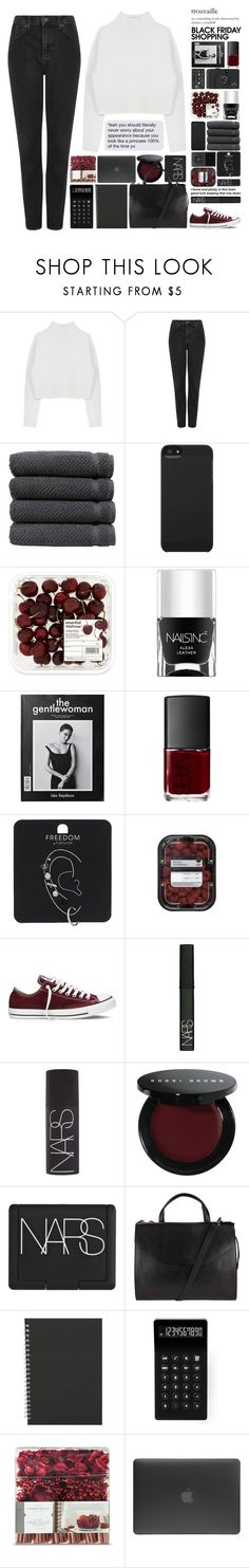 """""""And I will hold you closer, hope your heart is strong enough"""" by one-styles ❤ liked on Polyvore featuring Dion Lee, Topshop, Linum Home Textiles, Incase, Nails Inc., NARS Cosmetics, Converse, Bobbi Brown Cosmetics, John Lewis and LEXON"""