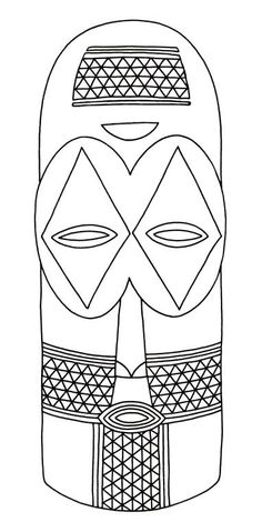 African Masks -  this site has a ton of African mask color pages and info on them