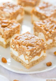 thanksgiving recipes desserts, australian dessert recipes, yogurt dessert recipes - Salted Peanut Chews - Salty-and-sweet with a little bit of crunchy and lots of chewy-and-gooey!! So easy and a crowd favorite!! Mmm!