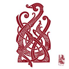 SALAMANDRA. Fire spirit. Knotwork Tattoo design by RAIDHO.