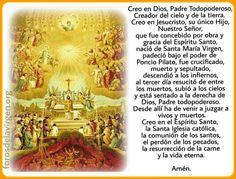 #ORACIÓN  Para tener presente los fundamentos de nuestra fe Católica