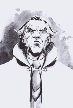Ra's Al Ghul by Dave Wachter Nightwing, Batgirl, Ras Al Ghul, Gotham Villains, Batman Universe, Dc Universe, Dc Comics Characters, Batman Family, Batman And Superman