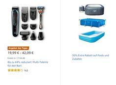 """Amazon: Rasur-Artikel für einen Tag reduziert https://www.discountfan.de/artikel/technik_und_haushalt/amazon-rasur-artikel-fuer-einen-tag-reduziert.php """"Multitalente für den Bart"""" sind jetzt bei Amazon für einen Tag mit Rabatt zu haben. Im Rahmen der Aktion sind Artikel von Philips, Braun und Remington reduziert. Mit dabei ist auch ein Bestseller. Amazon: Rasur-Artikel für einen Tag reduziert (Bild: Amazon.de) Die Rasur-Artikel mit... #Körperpflege, #Rasur"""
