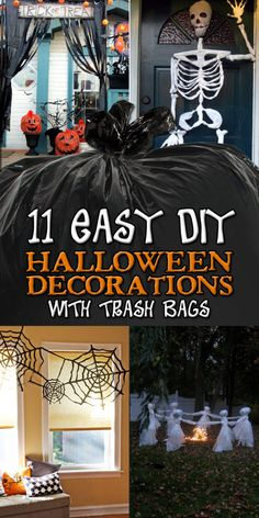 11 easy diy halloween decorations with trash bags - Cheap Halloween Party Decorations