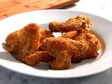 Oven Baked Fried Chicken Recipe. A friend made this. I wasn't able to sample it, but it smelled soooo yummy.