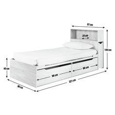 Buy Argos Home Lloyd Oak Effect Cabin Bed, Headboard & Storage Bed Headboard Storage, Bed Headboard Design, Bed Frame Design, Headboards For Beds, Bed Storage, Bed Design, White Kids Bed, Storage Unit Sizes, Single Beds With Storage