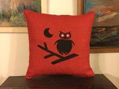 Burlap Owl Pillows Burlap Pillows Accent by BurlapDesignByGamze