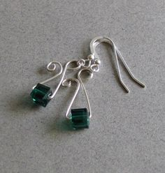geometric wirework earrings