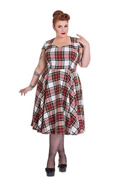 Hell Bunny Plus Vintage Inspired London Love Stewart Tartan Flare Dress (2XL) Hell Bunny http://www.amazon.com/dp/B016XBG3R8/ref=cm_sw_r_pi_dp_JBE.wb0KVJ8N9