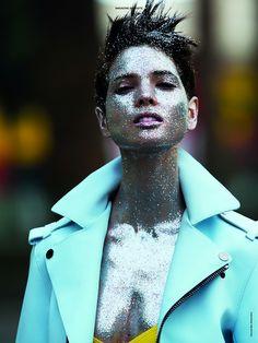 It's raining sparkles. Hanaa Ben Abdesslem by Hans Feurer for Antidote #5S/S 2013.