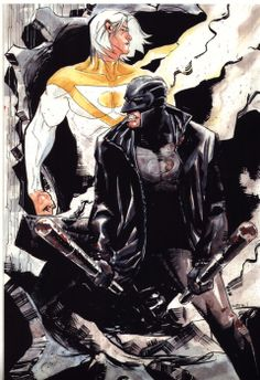 Apollo and Midnighter by Dustin Nguyen