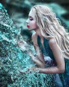 Beautiful Romantic Pictures, Beautiful Women Videos, Cute Love Images, Beautiful Photos Of Nature, Beautiful Gif, Gifs, Night Sky Wallpaper, Angel Drawing, Girl In Water