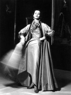 Ensemble by Jean Desses, outtake, April 1951; photo by John Rawlings