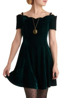 Emerald Escape Dress, 89.99  Transform old green velvet dress to this, a beautiful holiday frock.