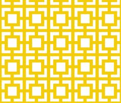 Moroccan Square in Sunny Yellow fabric by fridabarlow on Spoonflower - custom fabric