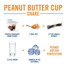 Peanut Butter Cup Profile shake. It's a game-changer!