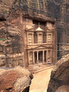 Petra...jordan,on the slope of Mt Hor... famous rock cut archtecture and water conduit system.  BBC choose it as one of the 40 places to see before you die...