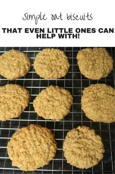 Simple oat biscuits - that even little ones can help with! Uk Recipes, Healthy Recipes On A Budget, Vegetarian Recipes Easy, Frugal Recipes, Savoury Recipes, Delicious Recipes, Frugal Meals, Cheap Meals, Budget Meals