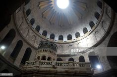 The tomb of Jesus Christ with the rotunda is seen in the Church of the Holy Sepulchre on March 21 2017 in Jerusalem Israel The tomb of Jesus Christ... Jesus Tomb, Jesus Christ, Stock Pictures, Stock Photos, Royalty Free Photos, Jerusalem Israel, March 21, Holy Land, Travel