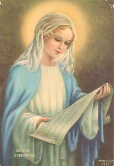 """Sede da Sabedoria, rogai por nós!  Maria, primeira e principal discípula de Jesus Cristo, ensinai-nos a """"fazer tudo o que Ele nos disser""""."""