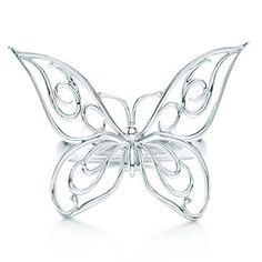 Butterfly ring in sterling silver.