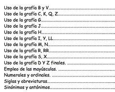 He encontrado un cuaderno de ortografía muy completo, cargado de actividades imprimibles,es un documento de 77 páginas. Yo lo he encontrado enhttp://www.aulasptmariareinaeskola.es pero desconozco el autor. Objetivos Conocer el uso de las reglas ortográficas de las letras. Aprender a escribir correctamente las palabras. Distinguir la ortografía de palabras homófonas y