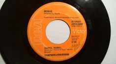 "DAVID BOWIE Rebel Rebel / Lady Grinning Soul (Rock 45 Vinyl 7"") RCA #BritishInvasion"