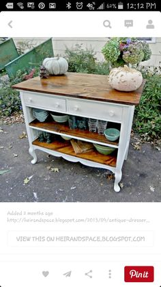 A great patio butler type cabinet/cart; a garden potting cart; or a cart for inside storage uses.