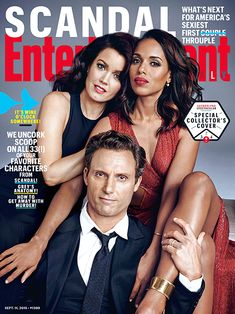 10 Stunning Portraits from EW's Shondaland Shoot | Kerry Washington With Bellamy Young and Tony Goldwyn on the Cover of <em>EW</em> | EW.com