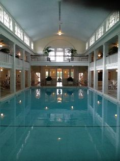 Bedford Springs PA. Love the spring water pool.