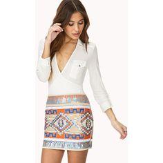 FOREVER 21 Regal Sequined Mini Skirt