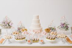 Desserts - Sweets - Cakes -- on Style Me Pretty   That's a pretty #DessertTable! Photography: Mango Studios