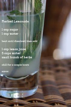 Herbed Lemonade (basil, rosemary, mint)