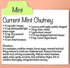 Current Mint Chutney
