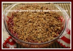 EASY Cranberry Apple Crisp Recipe with Oatmeal!