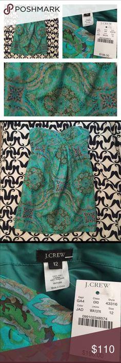 SALE‼️NWT J. Crew Silk Dress Amazing silk J. Crew dress. New with tags!           Bust, 38. Length, 30 J. Crew Dresses Mini